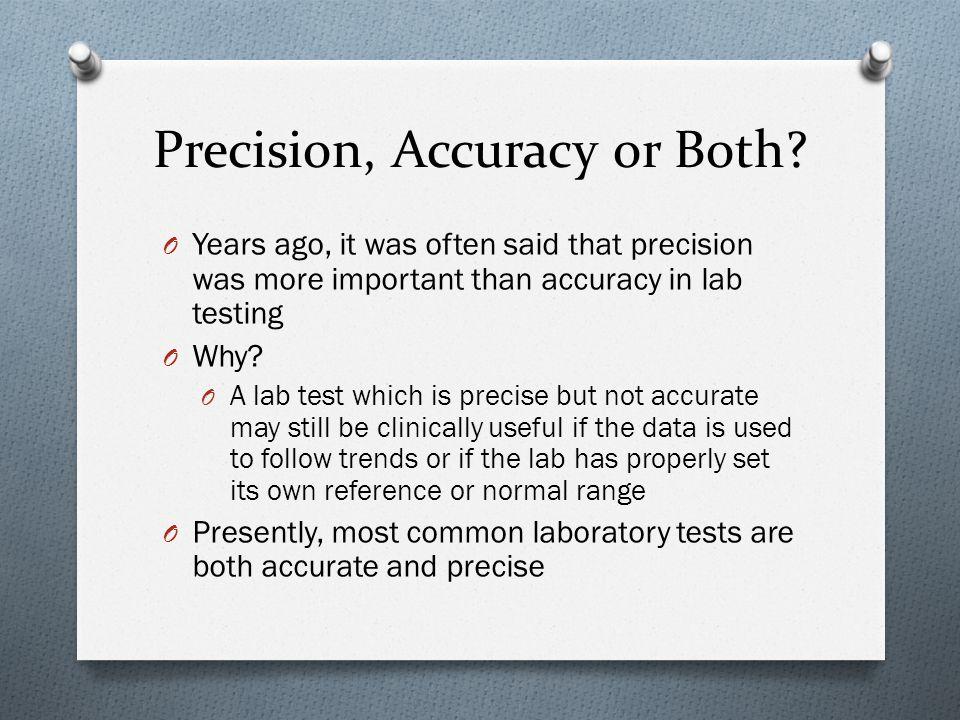 Precision, Accuracy or Both