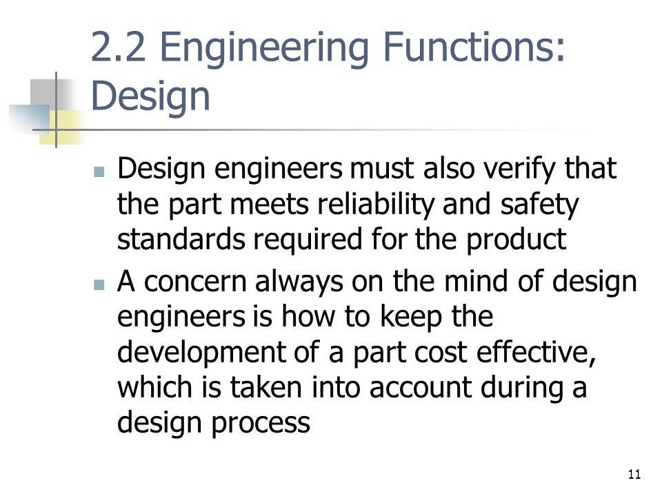 2.2 Engineering Functions: Design