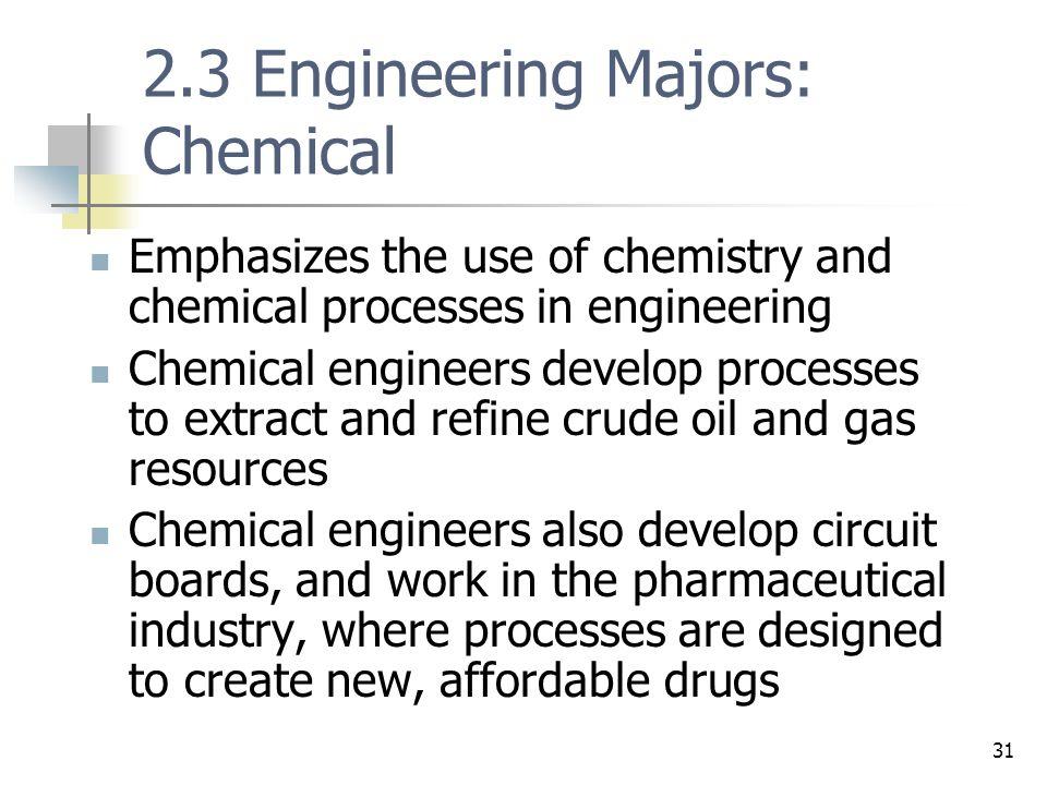 2.3 Engineering Majors: Chemical