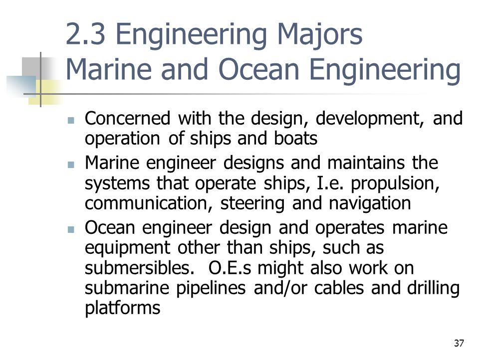 2.3 Engineering Majors Marine and Ocean Engineering