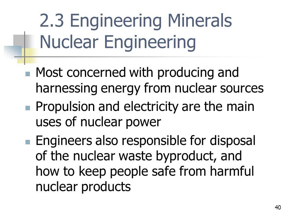 2.3 Engineering Minerals Nuclear Engineering