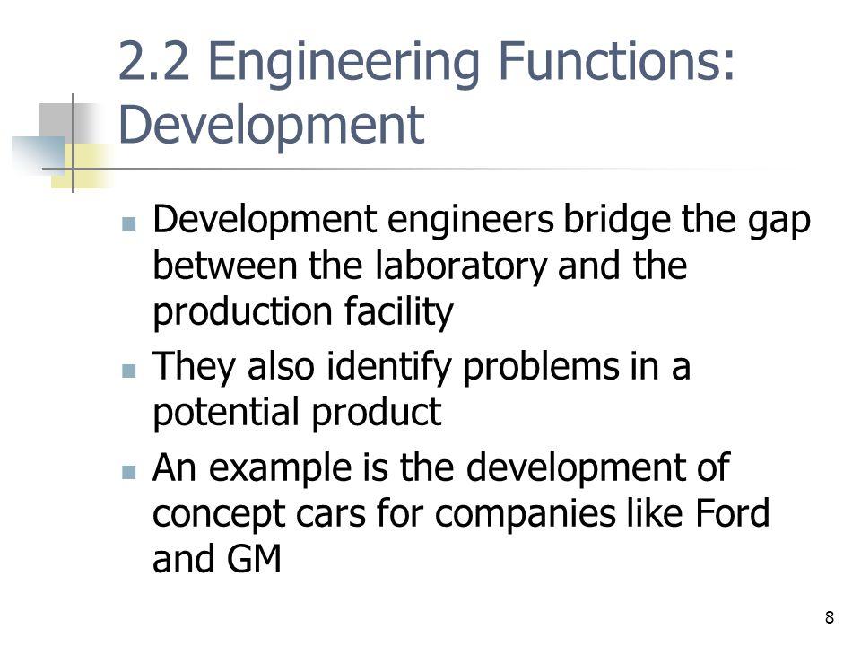 2.2 Engineering Functions: Development