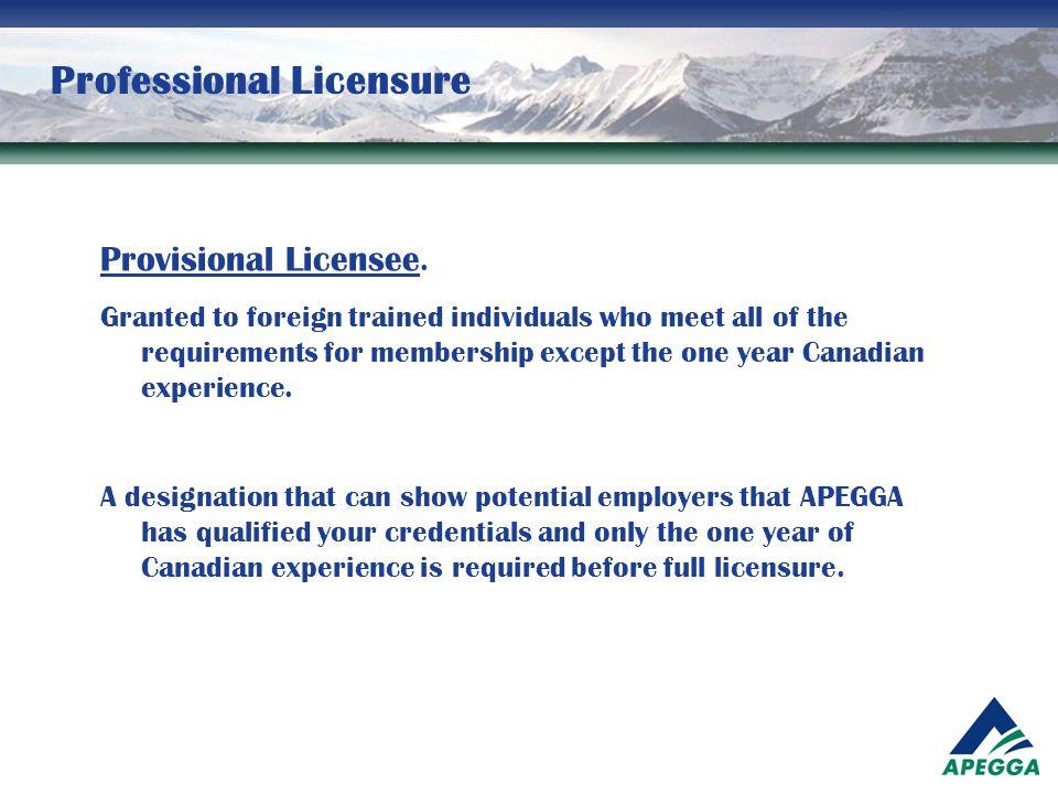 Professional Licensure