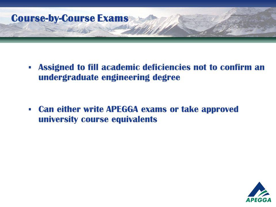 Course-by-Course Exams