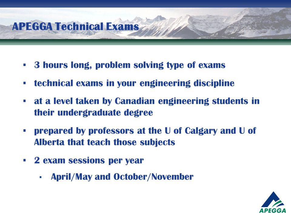 APEGGA Technical Exams