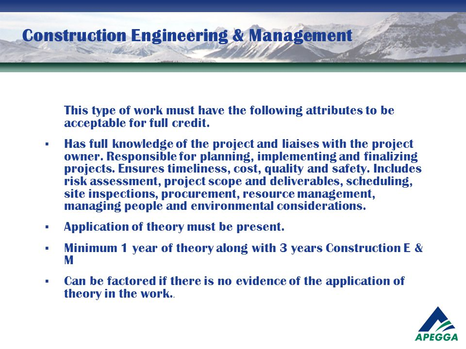 Construction Engineering & Management