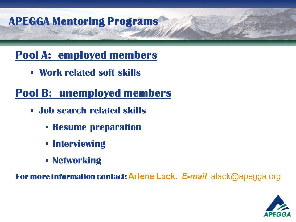 APEGGA Mentoring Programs