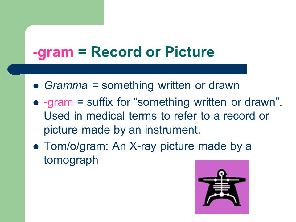 -gram = Record or Picture
