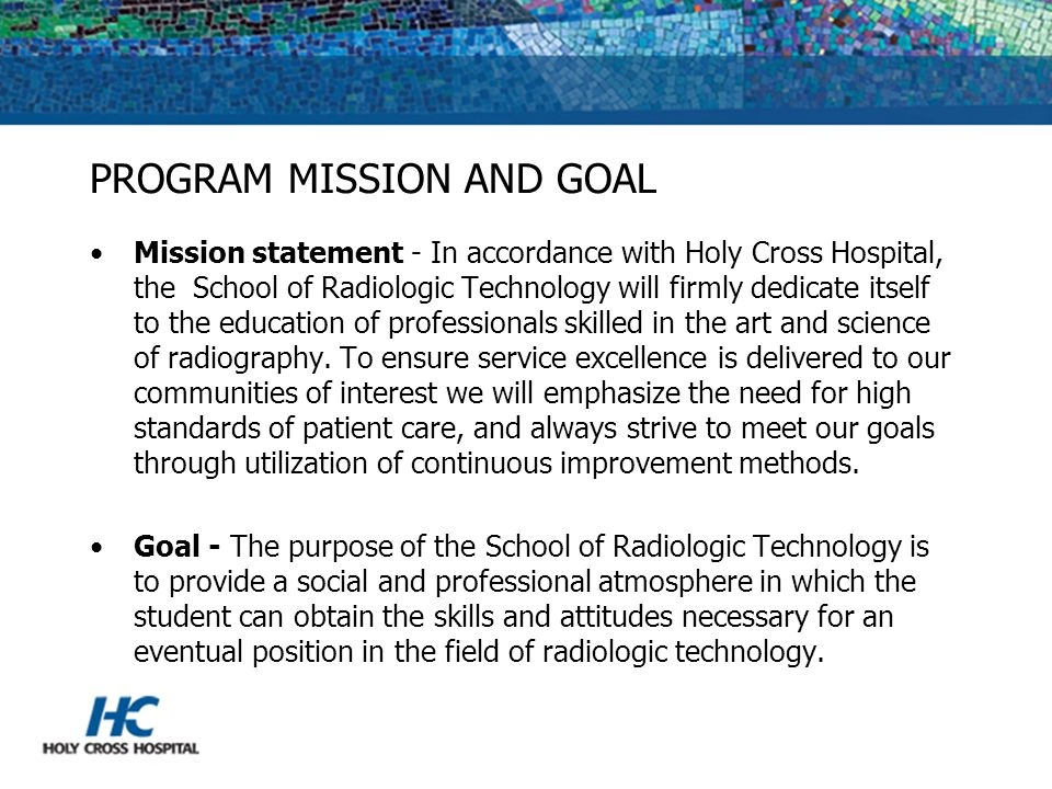 PROGRAM MISSION AND GOAL