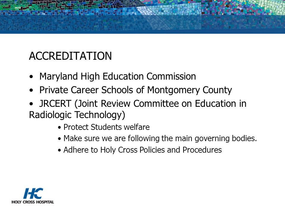 ACCREDITATION Maryland High Education Commission