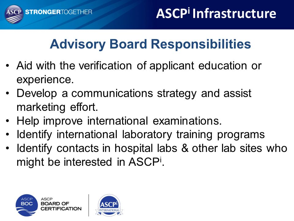 Advisory Board Responsibilities