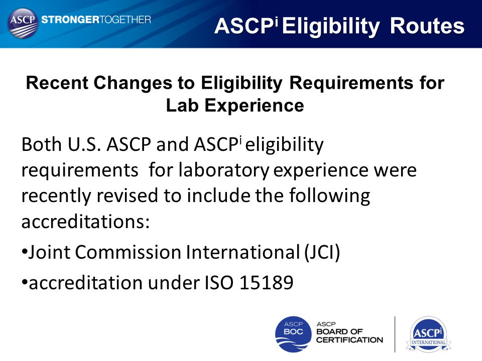 Recent Changes to Eligibility Requirements for Lab Experience