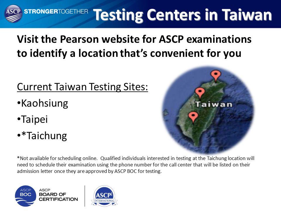 Testing Centers in Taiwan