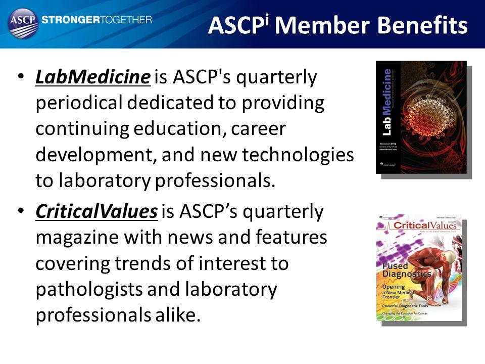 ASCPi Member Benefits