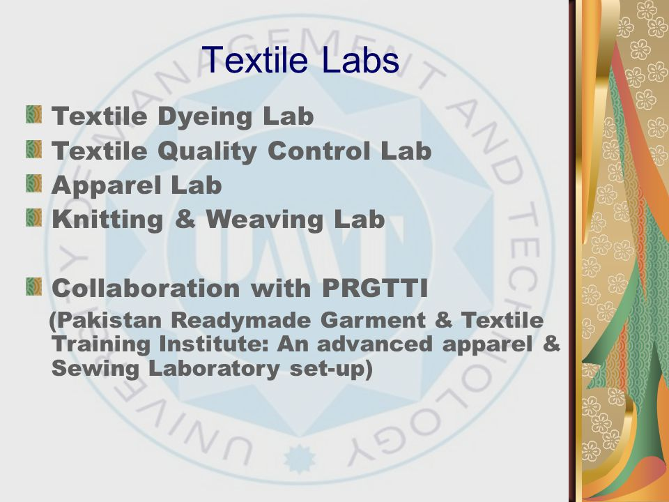 Textile Labs Textile Dyeing Lab Textile Quality Control Lab
