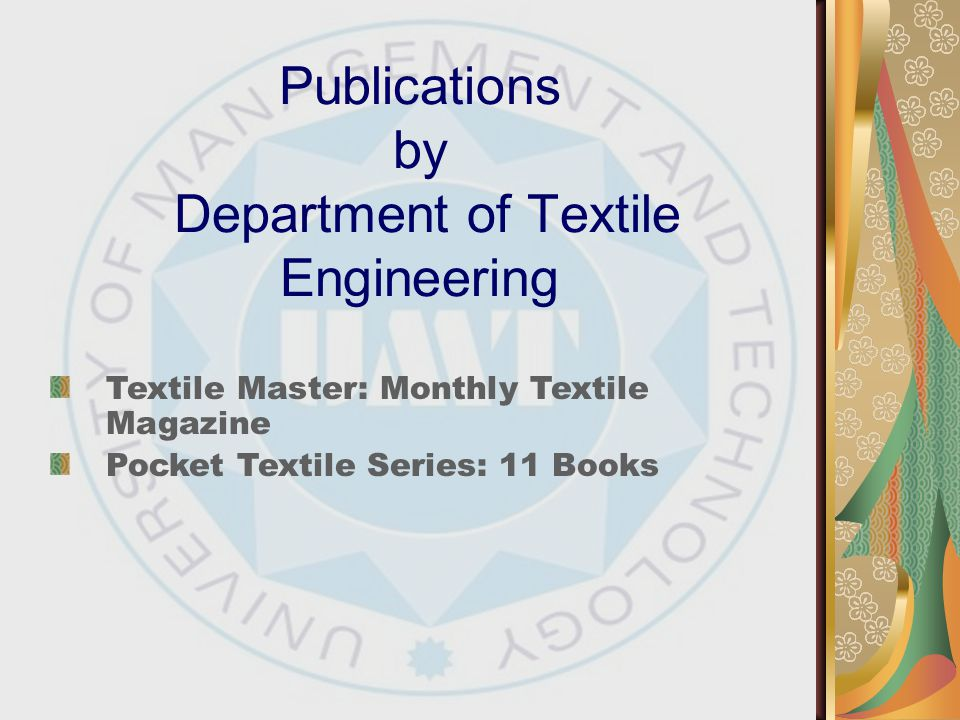 Publications by Department of Textile Engineering