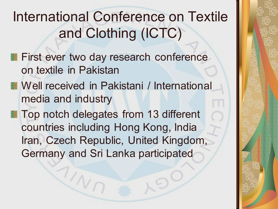 International Conference on Textile and Clothing (ICTC)