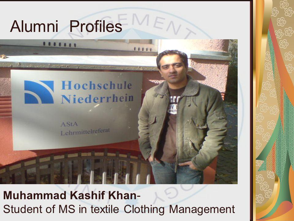 Alumni Profiles Muhammad Kashif Khan-