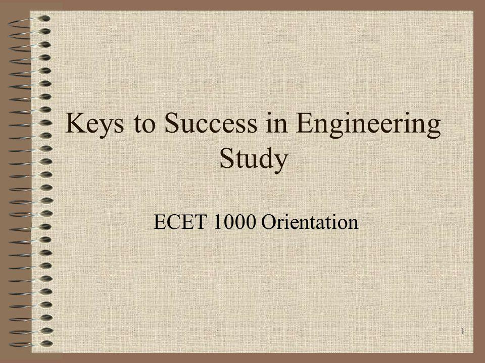 Keys to Success in Engineering Study