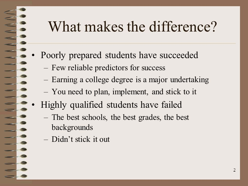 What makes the difference
