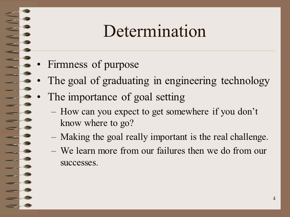 Determination Firmness of purpose