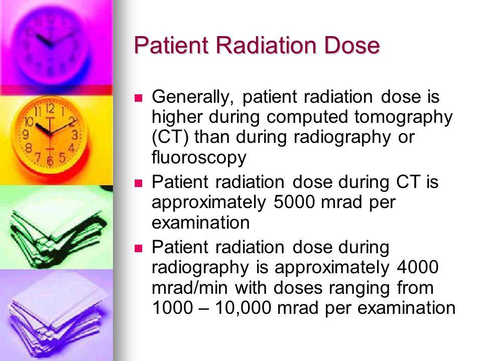Patient Radiation Dose