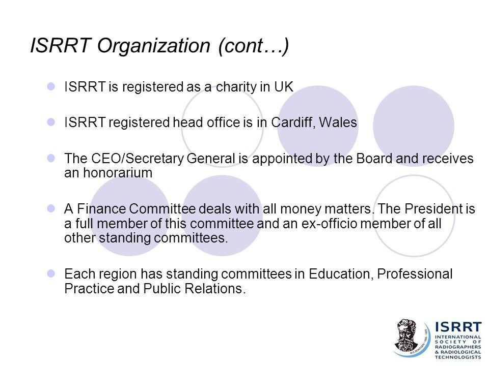 ISRRT Organization (cont…)