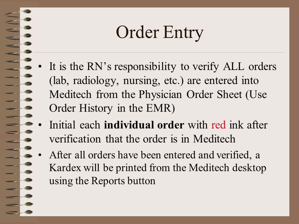 Order Entry