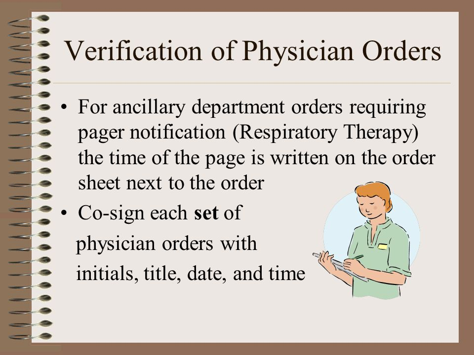 Verification of Physician Orders