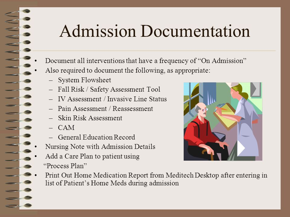 Admission Documentation