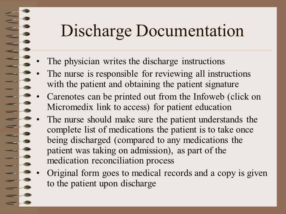 Discharge Documentation