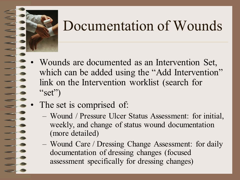 Documentation of Wounds