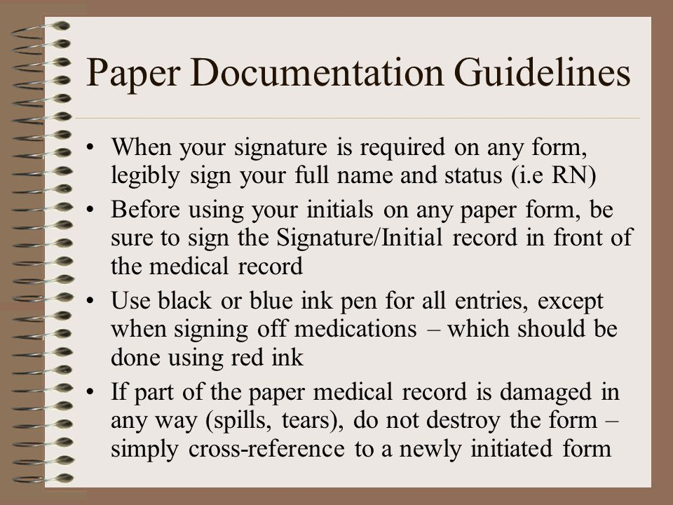 Paper Documentation Guidelines