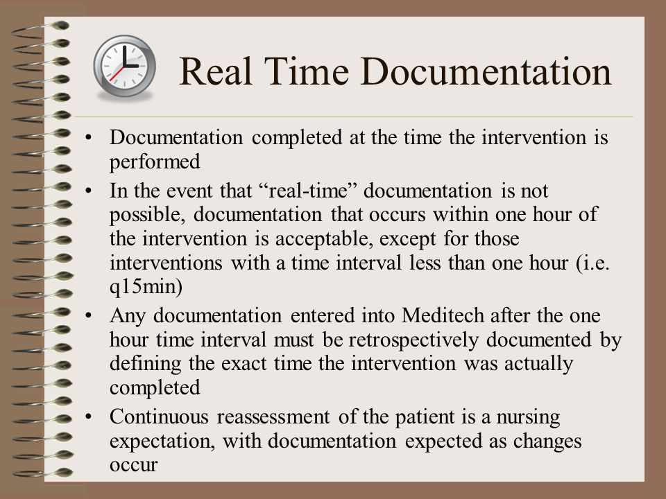Real Time Documentation