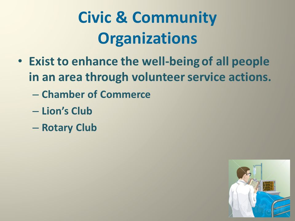 Civic & Community Organizations