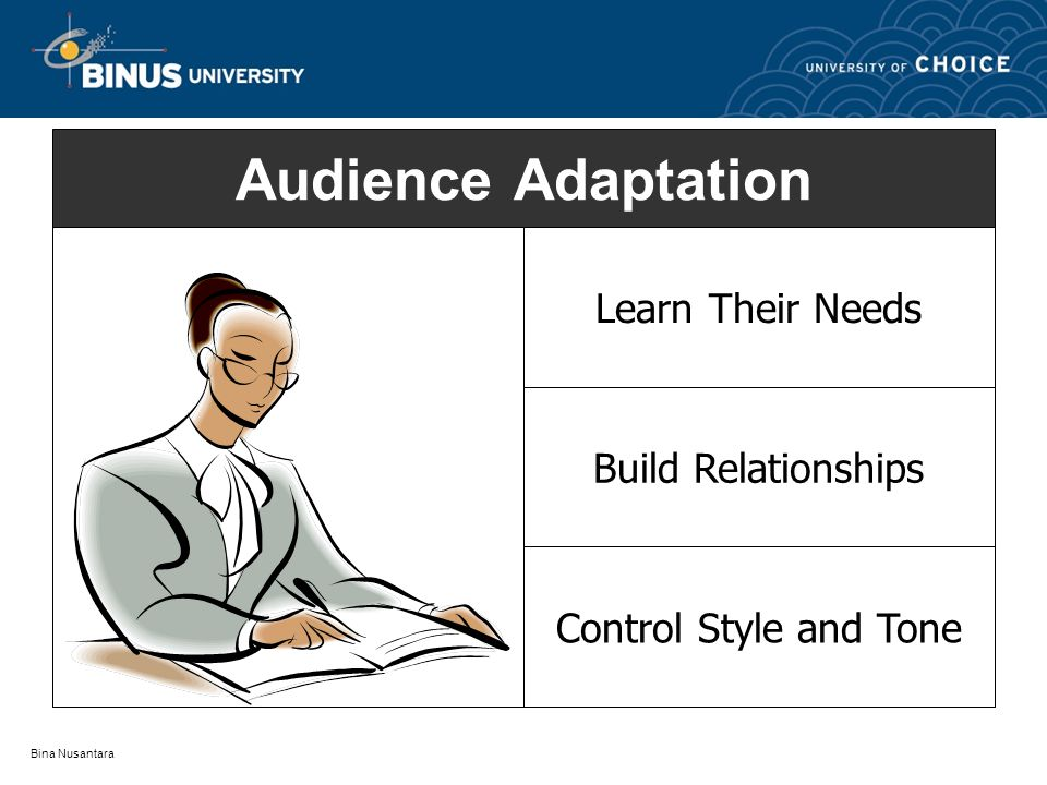 Audience Adaptation Learn Their Needs Build Relationships