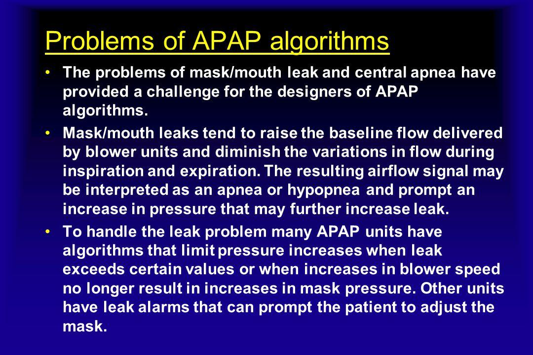 Problems of APAP algorithms