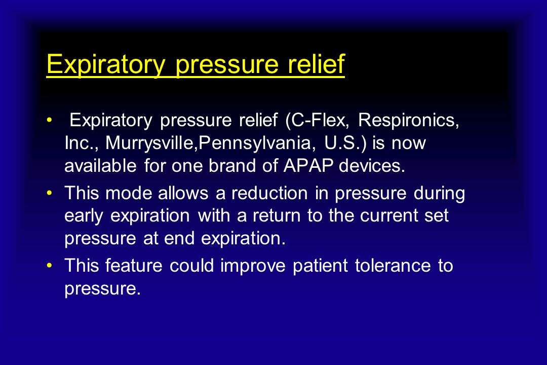 Expiratory pressure relief
