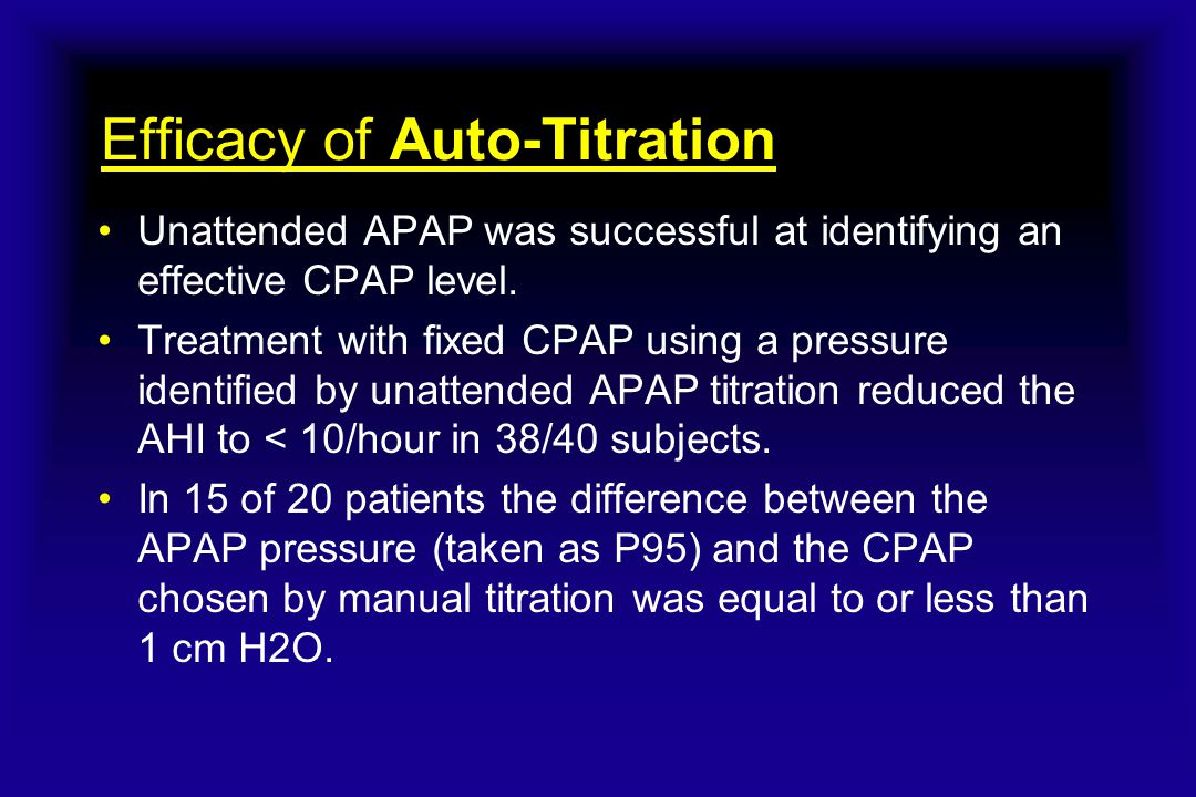 Efficacy of Auto-Titration