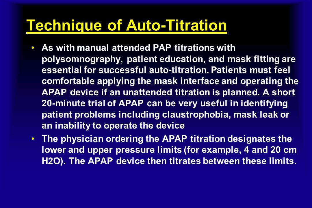 Technique of Auto-Titration