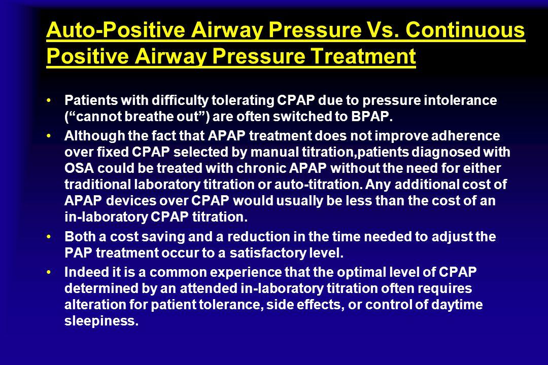 Auto-Positive Airway Pressure Vs