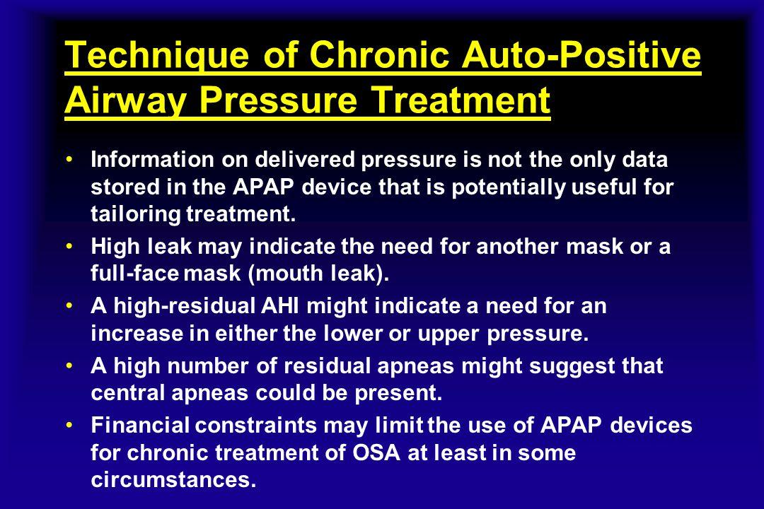 Technique of Chronic Auto-Positive Airway Pressure Treatment