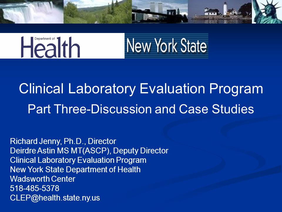 Clinical Laboratory Evaluation Program