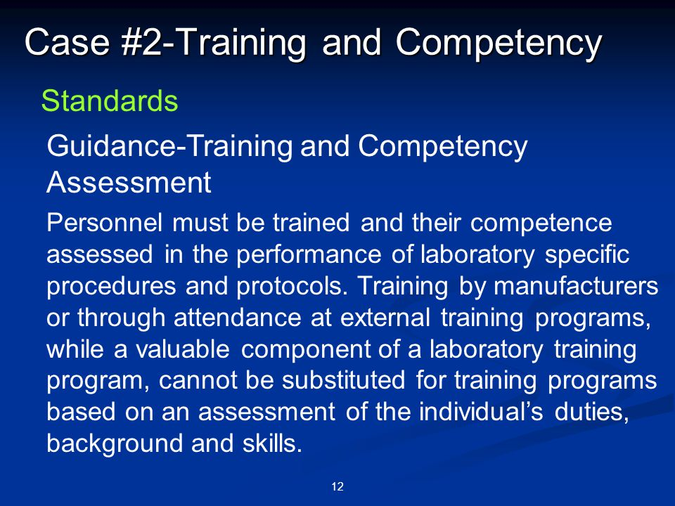 Case #2-Training and Competency
