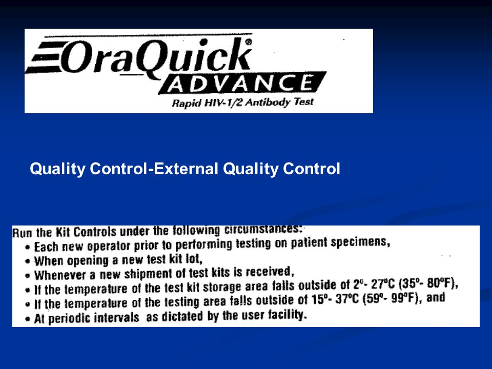 Quality Control-External Quality Control