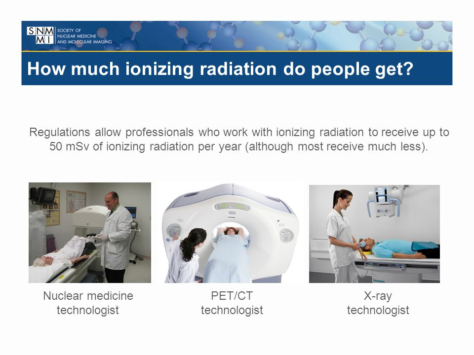 How much ionizing radiation do people get