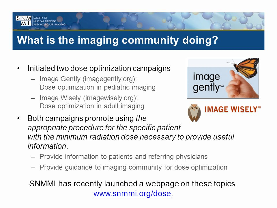 What is the imaging community doing