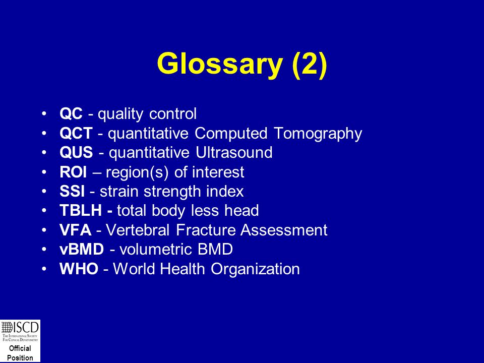 Glossary (2) QC - quality control