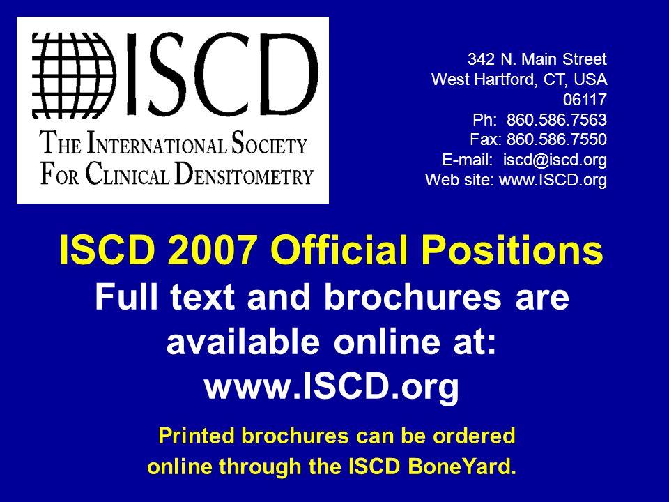 342 N. Main Street West Hartford, CT, USA 06117. Ph: 860.586.7563. Fax: 860.586.7550. E-mail: iscd@iscd.org.