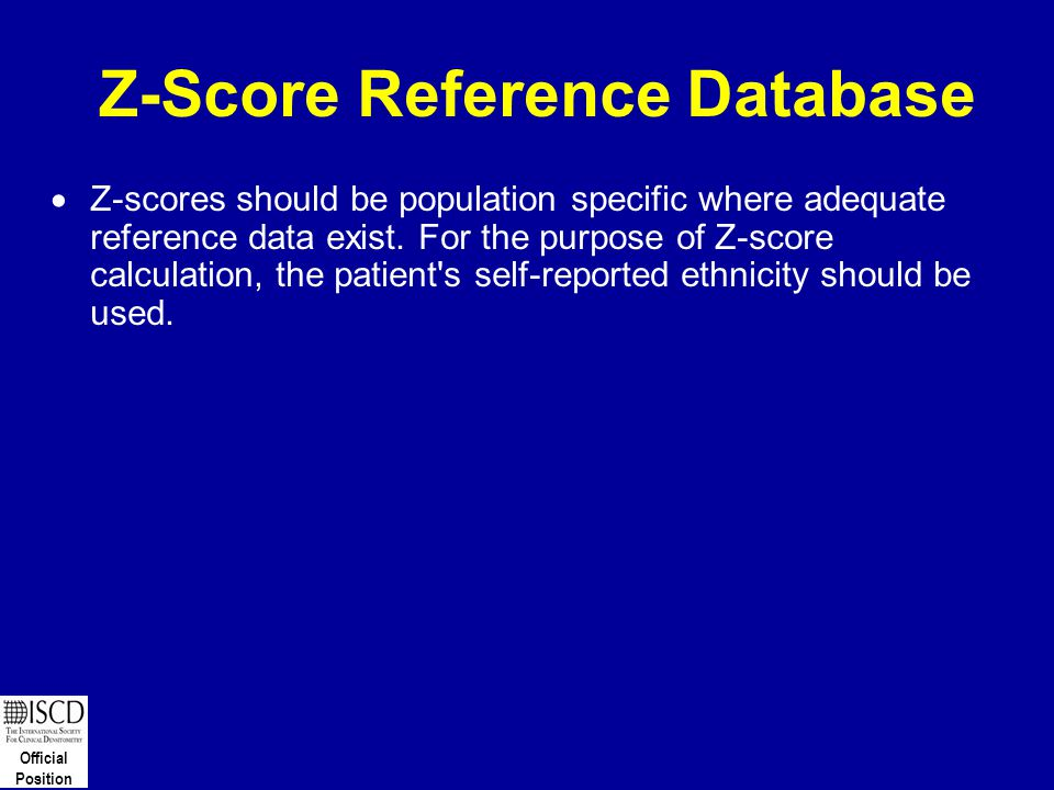 Z-Score Reference Database
